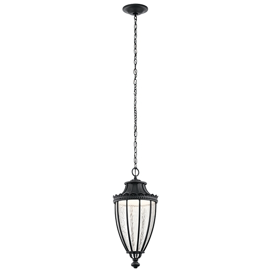 Kichler Wakefield Led Outdoor Hanging Lighting 49759Bktled In Kichler Outdoor Hanging Lights (Photo 9 of 10)