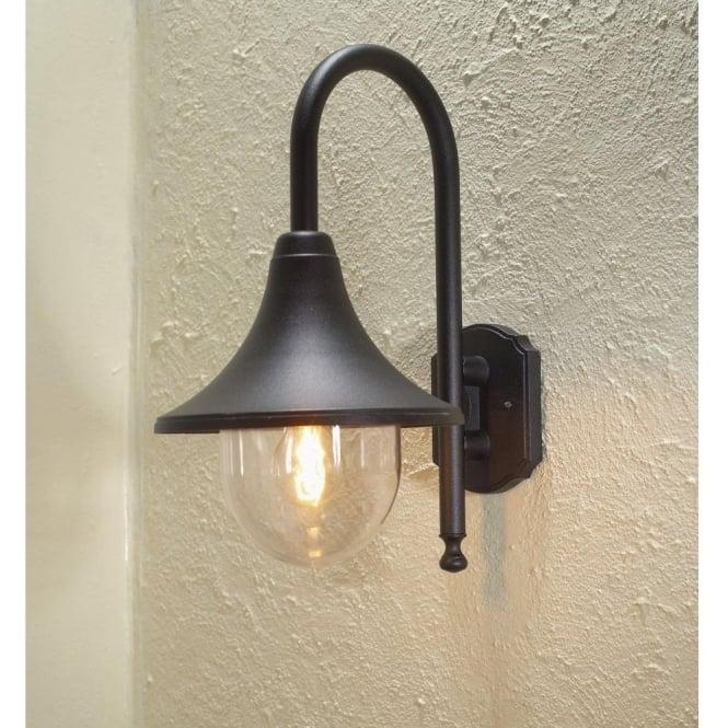 Konstsmide Bari Outdoor Wall Light In Black Finish   Lighting Type Throughout Black Outdoor Wall Lighting (Photo 10 of 10)