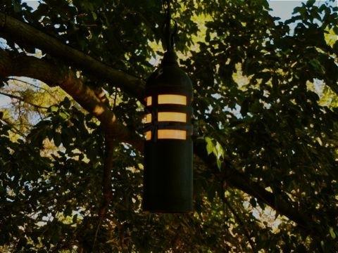 Landscape Lighting 9011-Bk Low Voltage Slotted Hanging Tree Light throughout Outdoor Hanging Low Voltage Lights (Image 1 of 10)