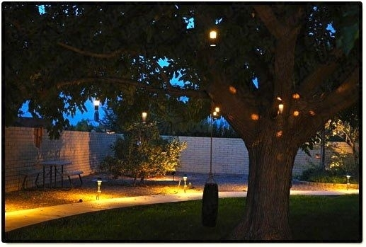 Featured Photo of Outdoor Low Voltage Hanging Tree Lights