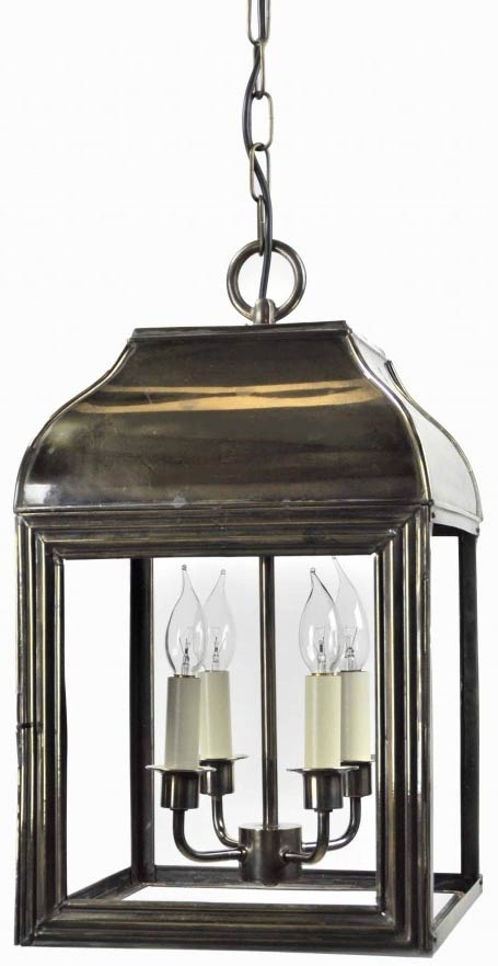 Large Hemingway Hanging Outdoor Lantern Solid Brass 505A within Outdoor Hanging Lanterns (Image 6 of 10)