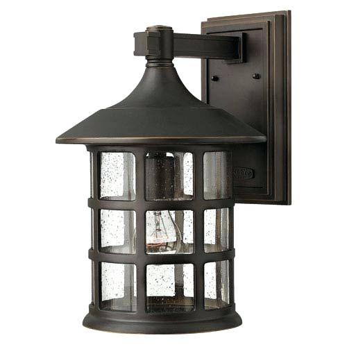 Large Outdoor Light Fixtures Oil Rubbed Bronze One Light Large for Large Outdoor Wall Lighting (Image 7 of 10)