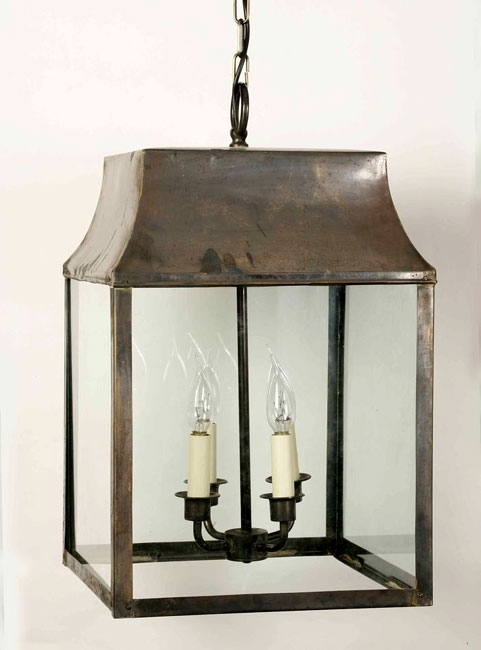 Large Strathmore Hanging Outdoor Porch Lantern Solid Brass 463A Inside Outdoor Hanging Lanterns (View 7 of 10)