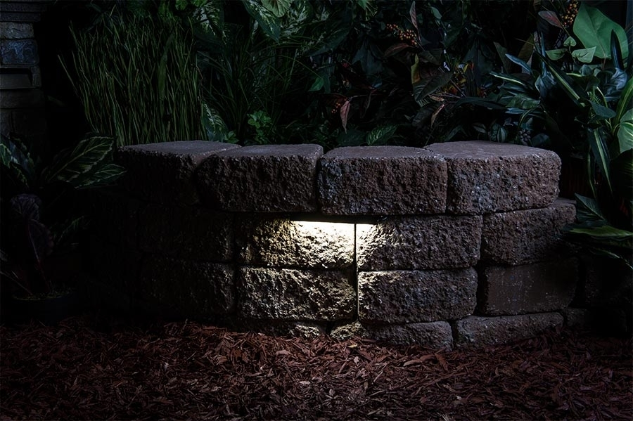 Led Hardscape Light 6 Deck Step And Landscape Retaining Wall With Regarding Outdoor Rock Wall Lighting (View 8 of 10)