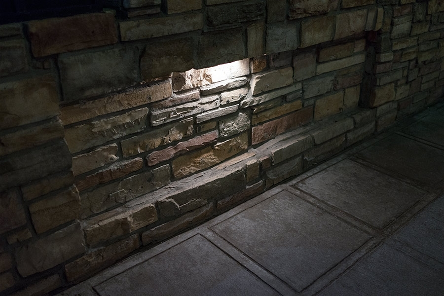 "Led Hardscape Lighting - 8"" Deck / Step And Retaining Wall Lights W for Outdoor Stone Wall Lighting (Image 4 of 10)"