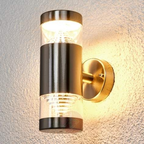 Featured Photo of Led Outdoor Wall Lights Lanea With Motion Sensor