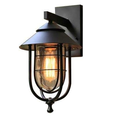 Led – Outdoor Wall Mounted Lighting – Outdoor Lighting – The Home Depot Within Led Outdoor Wall Lighting At Home Depot (View 3 of 10)