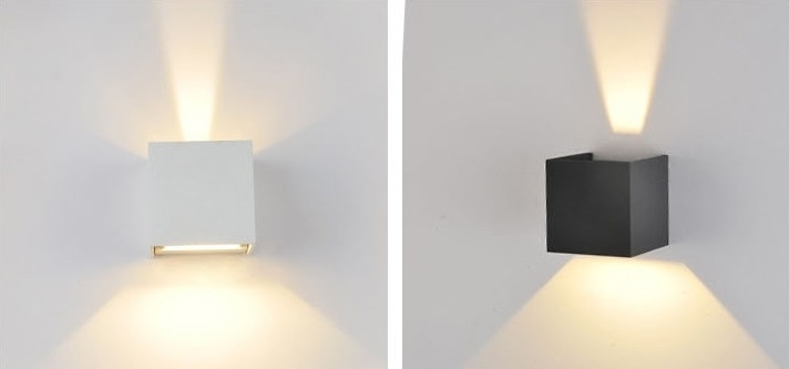 Led Outdoor Wall Sconce 6W Led Wall Lamps Waterproof Modern Led Wall within White Led Outdoor Wall Lights (Image 5 of 10)