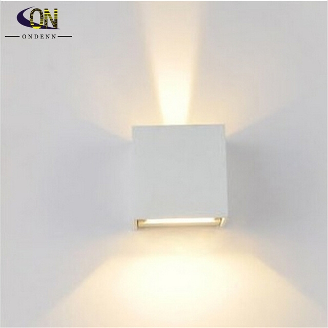 Led Outdoor Wall Sconce 8W Led Wall Lamps Waterproof Modern Led Wall regarding White Led Outdoor Wall Lights (Image 6 of 10)