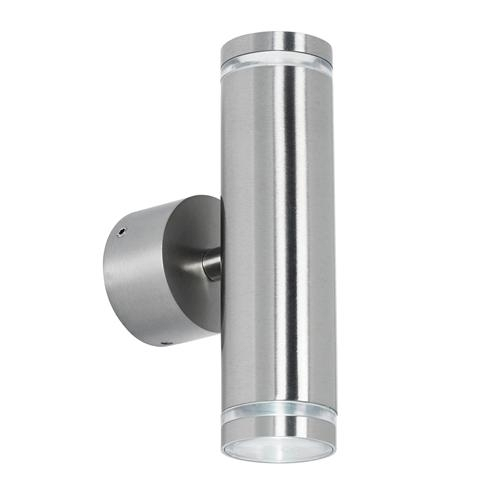 Led Satin Chrome Outdoor Wall Light El-40080 | The Lighting Superstore with Chrome Outdoor Wall Lighting (Image 5 of 10)