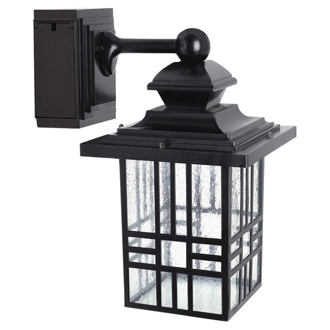 Led Wall Lantern With Gfci Outlet | Rona | Backyard | Pinterest with regard to Rona Outdoor Wall Lighting (Image 4 of 10)
