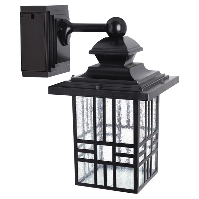 Led Wall Lantern With Gfci Outlet | Rona for Outdoor Wall Lights With Receptacle (Image 4 of 10)