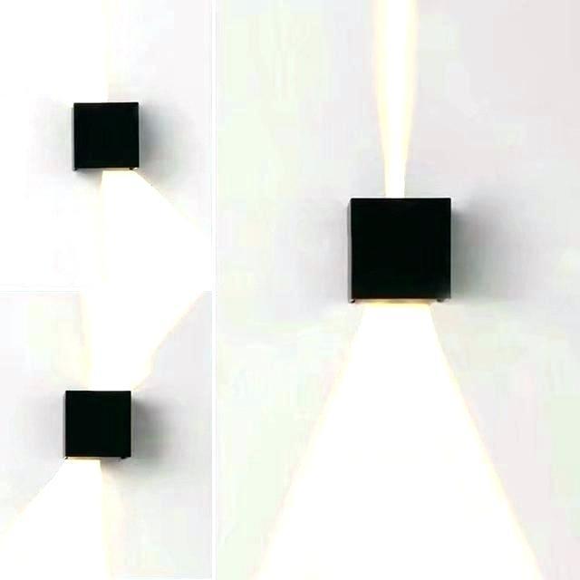 Light: Ice Cube Wall Light Elegant Lights On With Tesco (Image 3 of 10)