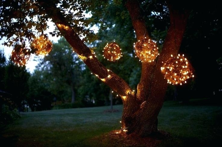 Lighted Spheres For Outdoor Trees Hang Light Balls And Starlight intended for Outdoor Hanging Sphere Lights (Image 6 of 10)