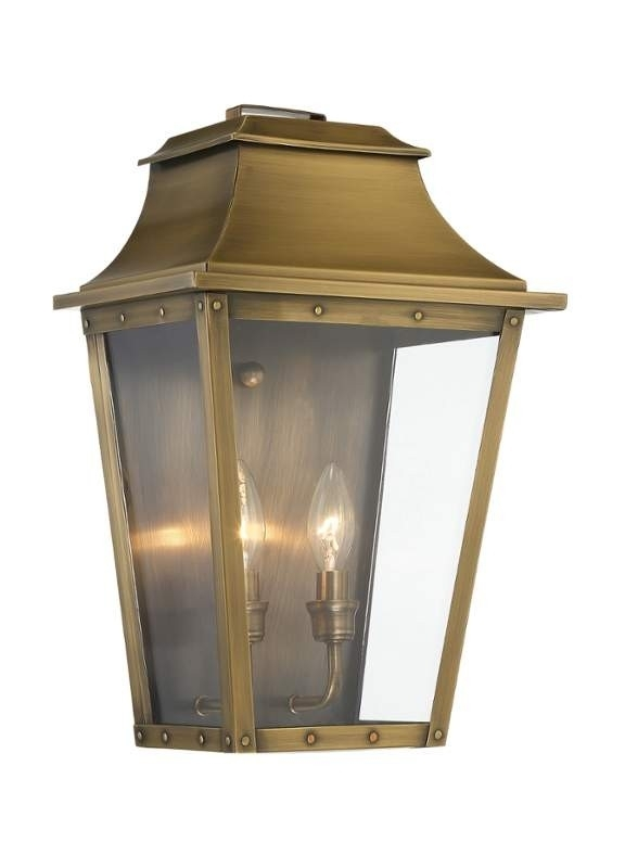 Lighting 8424 Coventry 2 Light Outdoor Wall Sconce With Clear Glass intended for Acclaim Lighting Outdoor Wall Lights (Image 8 of 10)