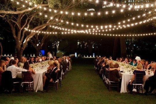 Lighting | Bridal Shower | Pinterest | Reception And Bridal Showers with Outdoor Hanging Party Lights (Image 7 of 10)