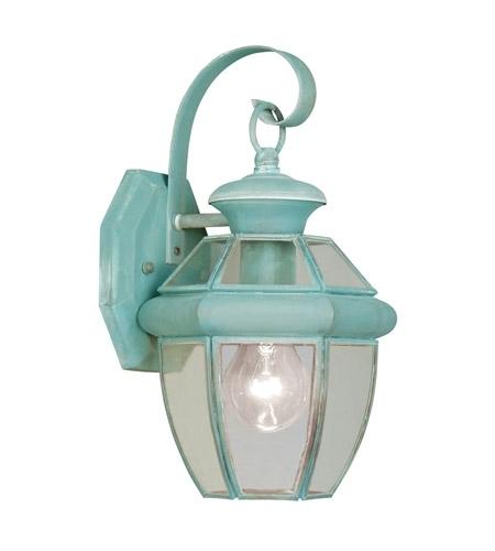 Livex 2051-06 Monterey 1 Light 13 Inch Verdigris Outdoor Wall Lantern intended for Verdigris Outdoor Wall Lighting (Image 5 of 10)