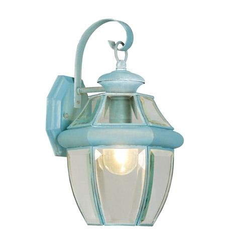 Livex 2151-06 Monterey 1 Light 13 Inch Verdigris Outdoor Wall Lantern for Verdigris Outdoor Wall Lighting (Image 6 of 10)