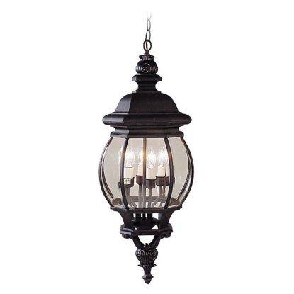 Livex Frontenac 7705-04 Outdoor Hanging Lantern - 26.5H In. Black within Outdoor Hanging Lanterns From Canada (Image 7 of 10)