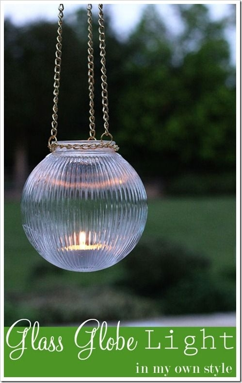 Love This Idea! Diy Outdoor Light Using A Glass Globe From A Ceiling regarding Diy Outdoor Hanging Lights (Image 6 of 10)
