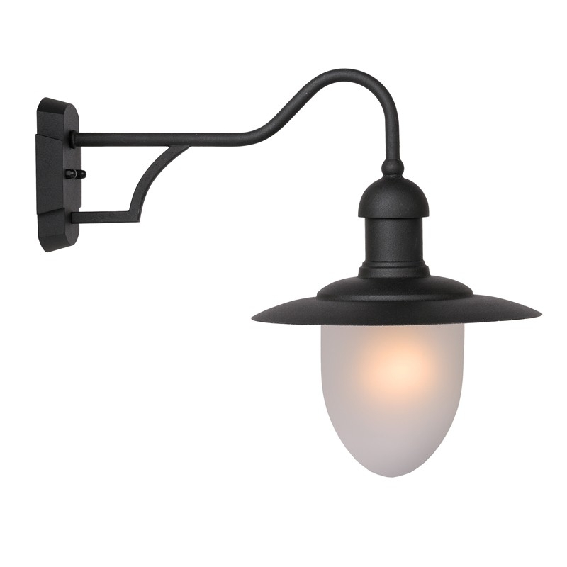Lucide Aruba Outdoor Hanging Lantern Wall Light - Black - Lighting intended for Outdoor Hanging Wall Lights (Image 5 of 10)