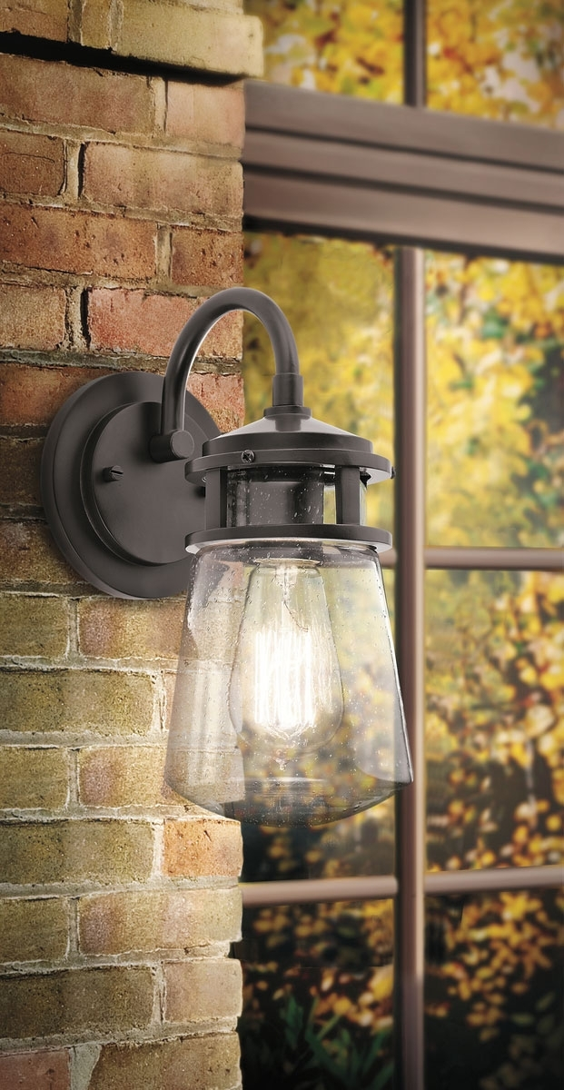 Lyndon 1 Light Outdoor Wall Lantern Architectural Bronze For with Kichler Lighting Outdoor Wall Lanterns (Image 10 of 10)
