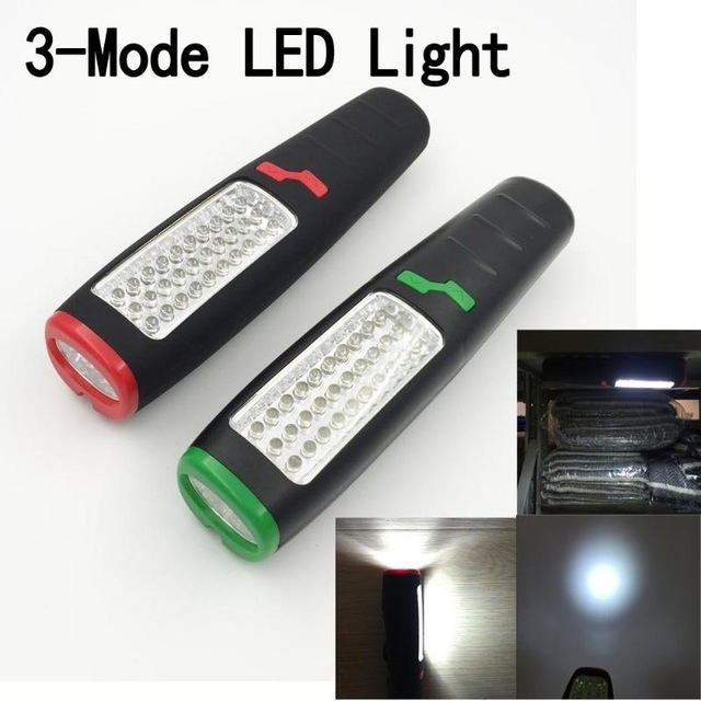 Magnetic Portable 37 Led Flashlight Inspection Work Light Lamp intended for Outdoor Hanging Work Lights (Image 4 of 10)