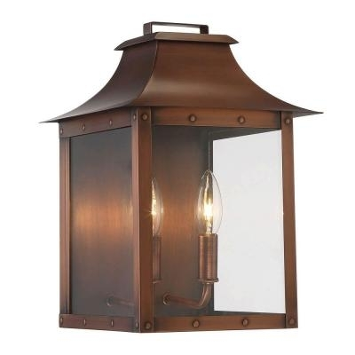 Manchester Collection 2-Light Copper Patina Outdoor Wall Lantern for Acclaim Lighting Outdoor Wall Lights (Image 9 of 10)