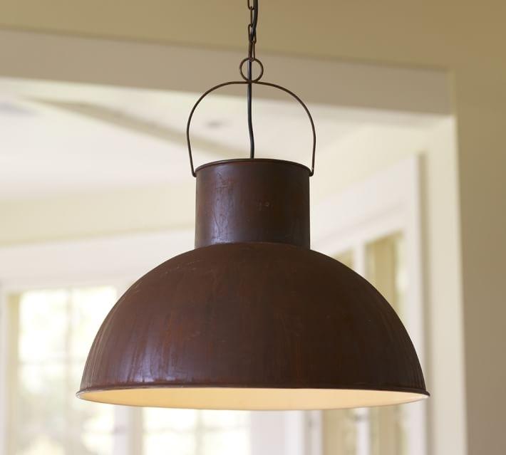 Mansfield Barn Industrial Indoor/outdoor Pendant | Pottery Barn with regard to Industrial Outdoor Hanging Lights (Image 5 of 10)