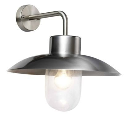 Mara Stainless Steel Wall Light, B&q. Ip44. £40 | Outside regarding Outdoor Wall Lighting at B&q (Image 8 of 10)