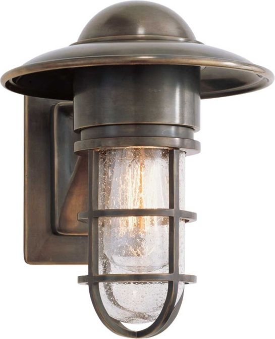 Marine Wall Light, But Chrome With Clear Glass; Above Front Door throughout Beach Outdoor Wall Lighting (Image 5 of 10)