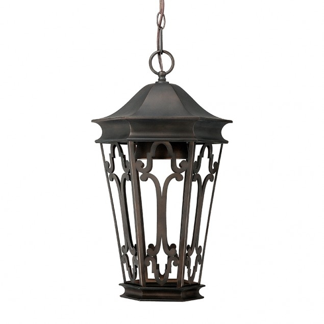 Maxim 30459Cdat Canterbury 3 Light 10 Inch Artesian Bronze Outdoor Intended For Outdoor Hanging Lanterns With Stand (View 7 of 10)