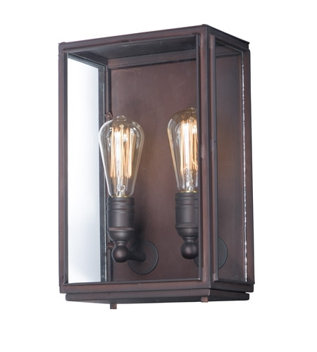 Maxim 4067Cloi Pasadena 2 Light 14 Inch Oil Rubbed Bronze Outdoor for Oil Rubbed Bronze Outdoor Wall Lights (Image 7 of 10)