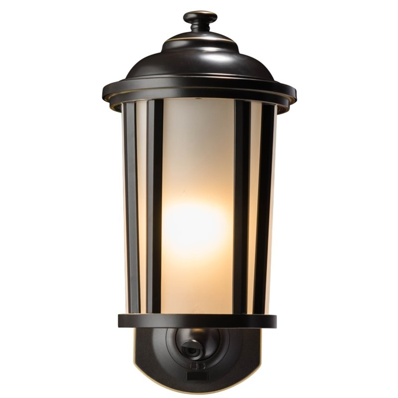Maximus Smart Security With Camera 1-Light Outdoor Wall Lantern in Outdoor Wall Lights With Security Camera (Image 9 of 10)