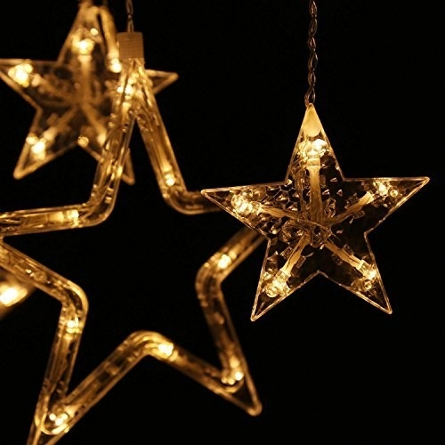 Merry Hanging Star Christmas Lights Outdoor Outside Chritsmas Decor with Outdoor Hanging Star Lights (Image 5 of 10)