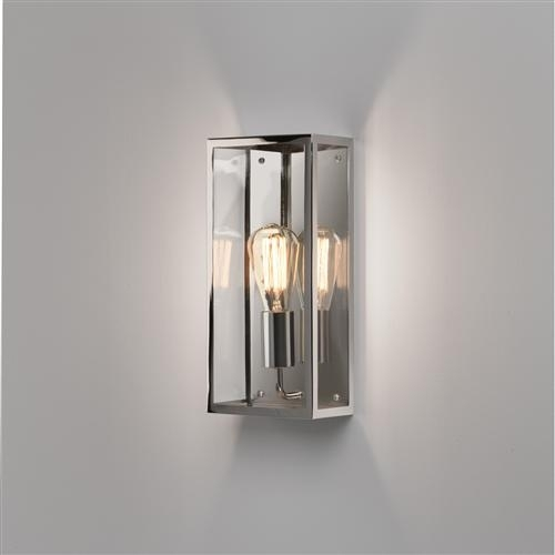 Messina Rectangular Polished Nickel Outdoor Wall Light 7879 | The Inside Rectangle Outdoor Wall Lights (View 9 of 10)