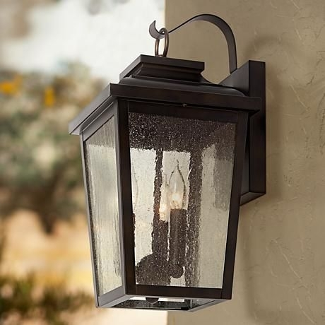 Minka Lavery Irvington Manor 3-Light Outdoor Wall Lantern | Products with Mission Style Outdoor Wall Lighting (Image 8 of 10)