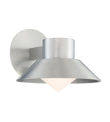 Modern Forms Ws-W18710-Al Oslo Led 8 Inch Brushed Aluminum Outdoor regarding Aluminum Outdoor Wall Lighting (Image 5 of 10)