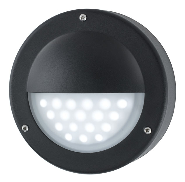 Modern Led Outdoor Mini Garden Wall Step Light Black 8744Bk Intended For Outdoor Wall Led Lighting (View 2 of 10)