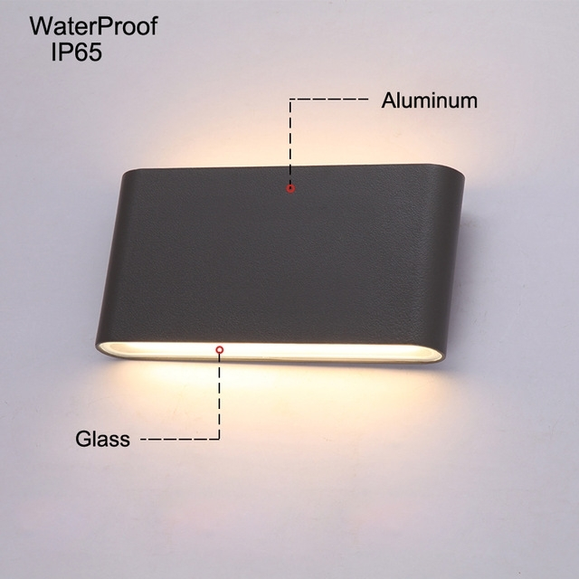 Modern Led Outdoor Wall Lights Porch Light Waterproof Ip65 For within Ip65 Outdoor Wall Lights (Image 6 of 10)