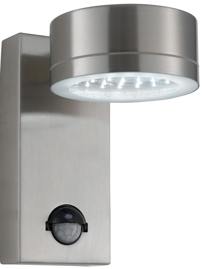 Modern Led Stainless Steel Outdoor Pir Wall Light 9550Ss with Outdoor Led Wall Lights With Pir Sensor (Image 5 of 10)