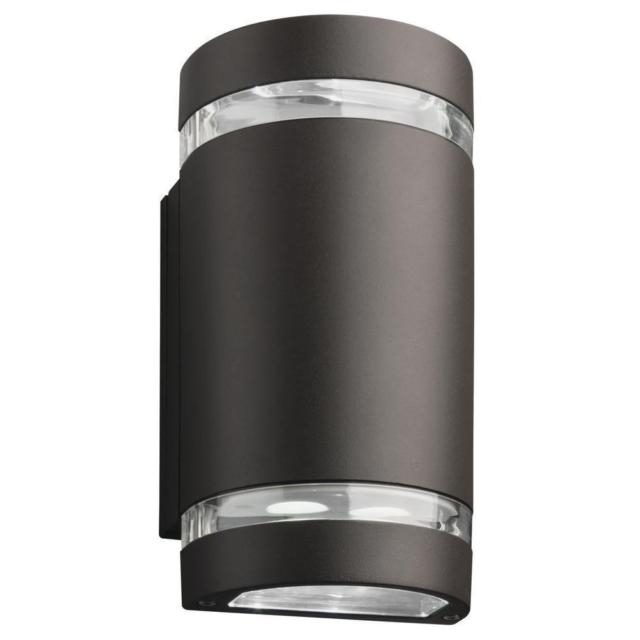 Modern Lithonia Lighting 2-Light Bronze Outdoor Integrated Led Wall in Led Wall-Mount Outdoor Lithonia Lighting (Image 7 of 10)