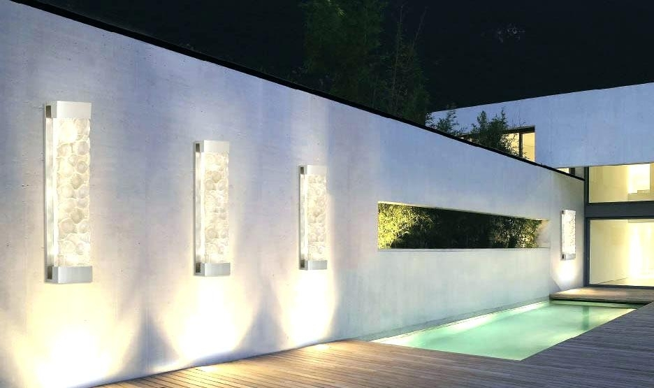 Modern Wall Light Fixtures Modern Wall Light Fixtures Tips For pertaining to Outdoor Exterior Wall Lighting (Image 8 of 10)