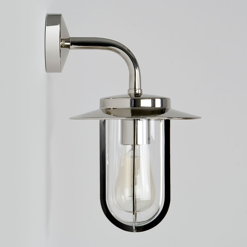 Montparnasse Wall Lantern - Polished Nickel - Lighting Direct in Nickel Polished Outdoor Wall Lighting (Image 4 of 10)