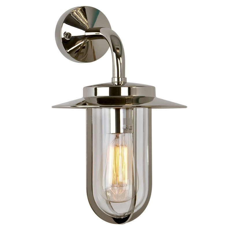 Montparnasse Wall Lantern - Polished Nickel - Lighting Direct regarding Nickel Polished Outdoor Wall Lighting (Image 5 of 10)