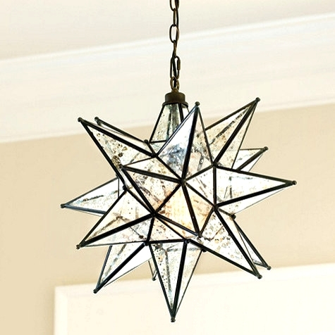 Moravian Star Light Outdoor Pendant Lights Through The Front Door with regard to Outdoor Hanging Star Lights (Image 6 of 10)