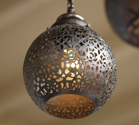 Moroccan Indoor/outdoor Pendant | Pottery Barn in Outdoor Hanging Moroccan Lanterns (Image 8 of 10)