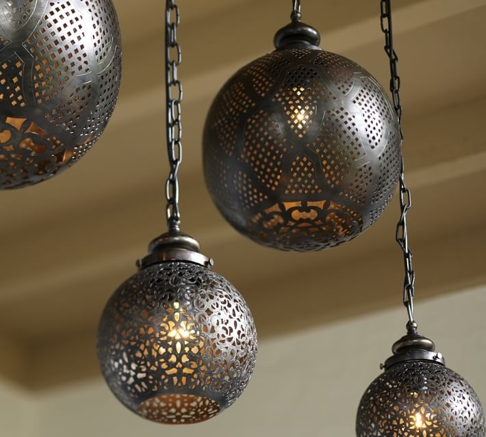 Moroccan Indoor/outdoor Pendant | Pottery Barn in Outdoor Hanging Moroccan Lanterns (Image 7 of 10)