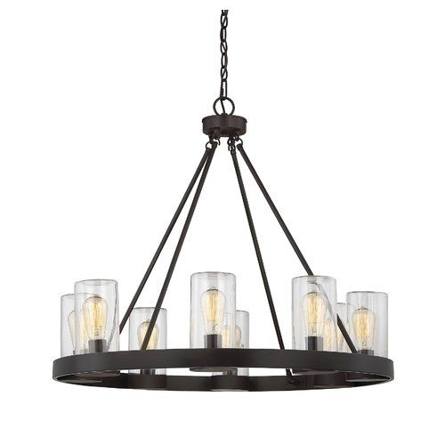 Mount Vernon 8-Light Outdoor Chandelier | Outdoor Chandelier, Mount with Wayfair Outdoor Hanging Lights (Image 4 of 10)