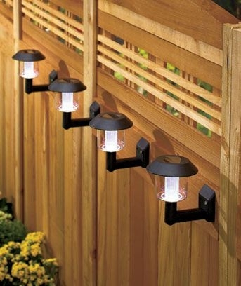 Mountable Solar Lights. Perfect For Hanging On A Fence. | Backyard regarding Hanging Outdoor Lights on Fence (Image 8 of 10)